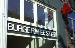 burgermeester front of restaurant