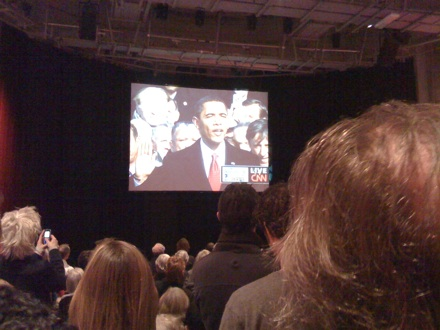 2009 inauguration at felix meritis amsterdam - obama takes oath