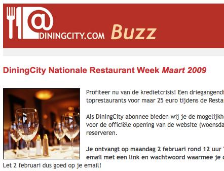 dining city buzz restaurantweek 2009