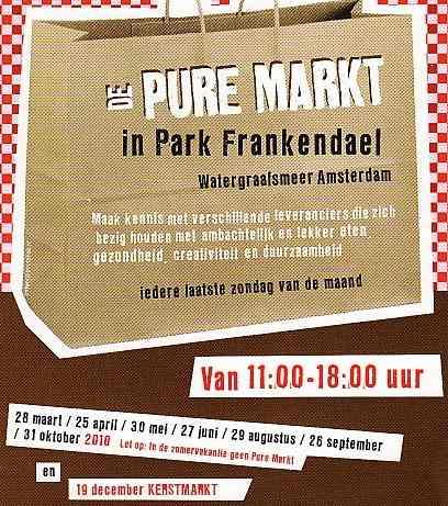 pure markt amsterdam - flyer