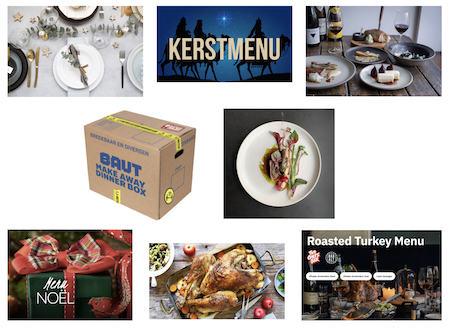 Christmas dinners for take-away or delivery, available in Amsterdam.